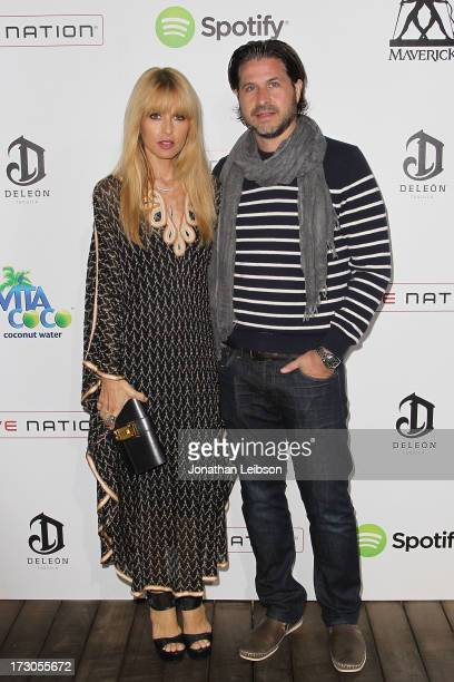 Rachel Zoe and Rodger Berman attend the Guy Oseary's July 4th event in Malibu presented by Spotify and Live Nation with DeLeon and VitaCoco at Nobu...