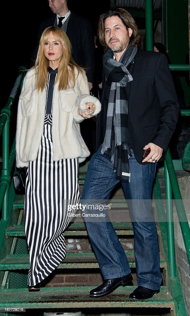 Rachel Zoe and Rodger Berman attend the Marc Jacobs Fall 2013 Mercedes-Benz Fashion Show at N.Y. State Armory on February 14, 2013 in New York City.