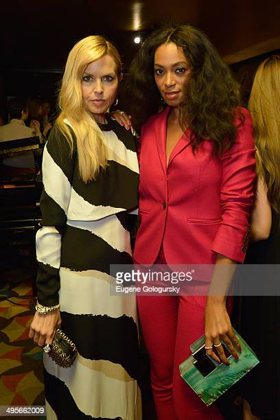 Rachel Zoe and Solange attend the Gucci beauty launch event hosted by Frida Giannini on June 4 2014 in New York City