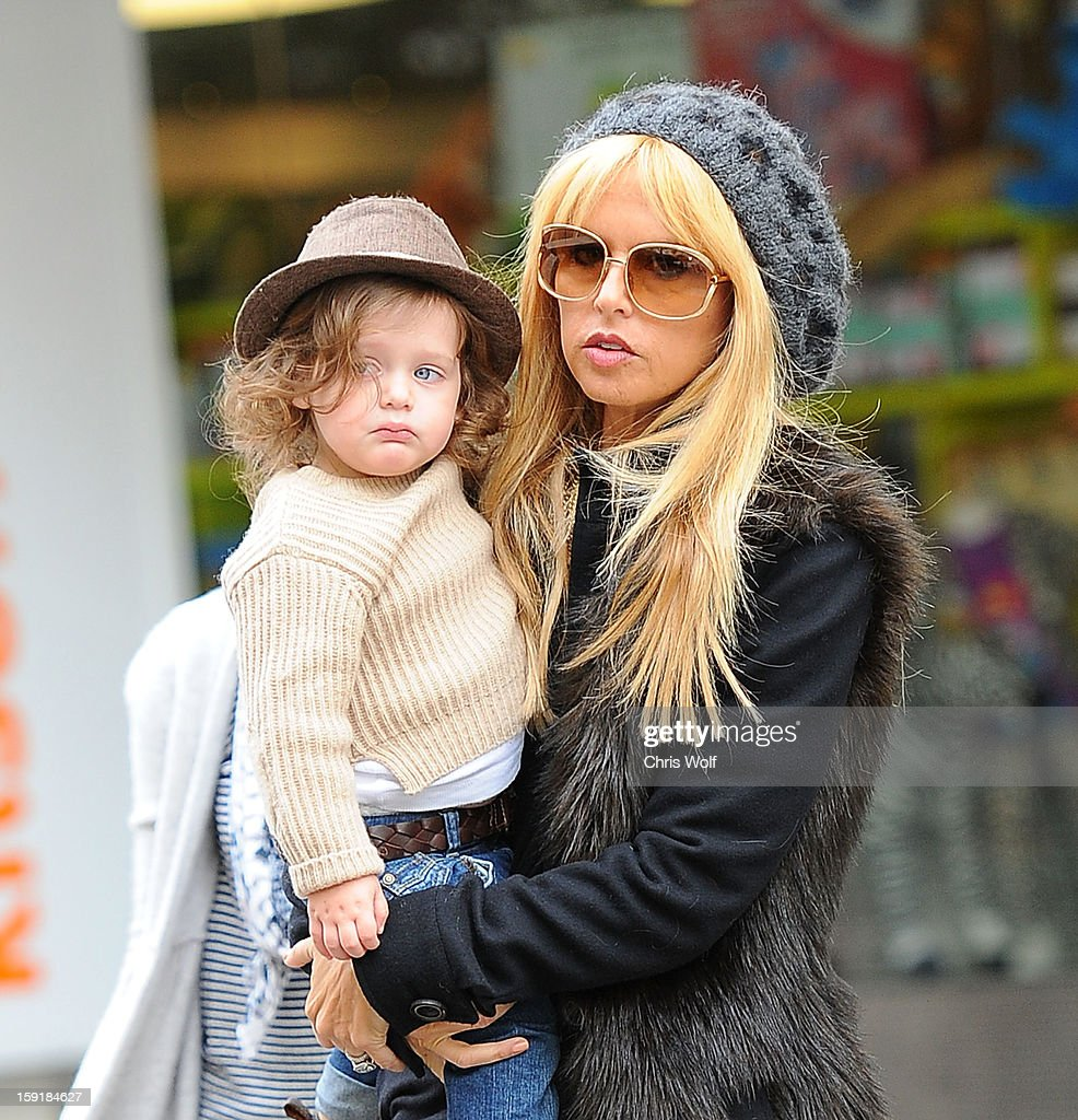 Rachel Zoe and son Skyler are seen on January 9, 2013 in Los Angeles, California.