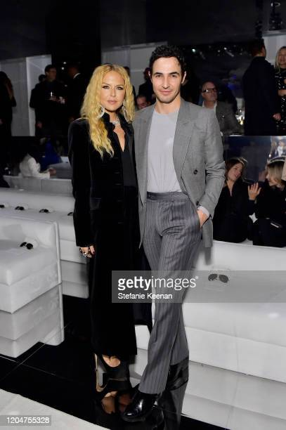 Rachel Zoe and Zac Posen attend Tom Ford: Autumn/Winter 2020 Runway Show at Milk Studios on February 07, 2020 in Los Angeles, California.