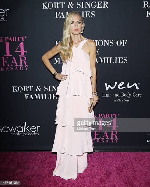 Rachel Zoe arrives at the 10th Annual Pink Party held at Santa Monica Airport on October 18 2014 in Santa Monica California