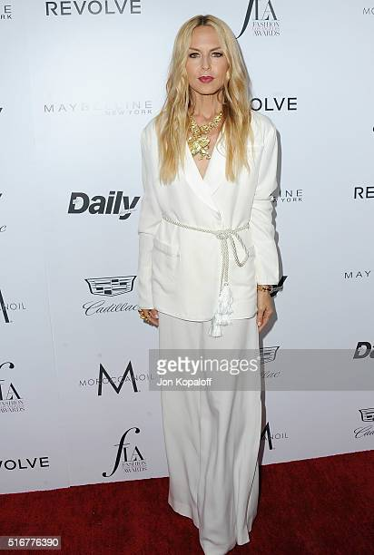 Rachel Zoe arrives at The Daily Front Row 'Fashion Los Angeles Awards' 2016 at Sunset Tower Hotel on March 20 2016 in West Hollywood California