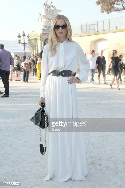 Rachel Zoe arrives at the Lanvin Ready to Wear Spring / Summer 2012 show during Paris Fashion Week at Jardin des Tuileries on September 30 2011 in...