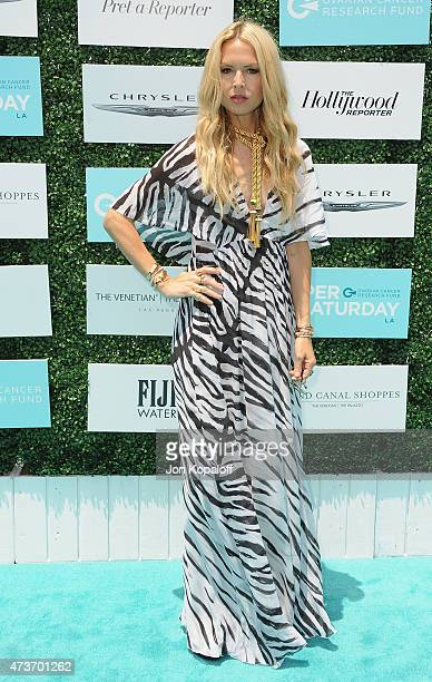 Rachel Zoe arrives at the Ovarian Cancer Research Fund's 2nd Annual Super Saturday LA at Barker Hangar on May 16 2015 in Santa Monica California
