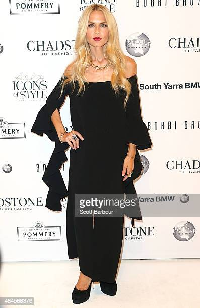 Rachel Zoe arrives to attend the 'Icons of Style' campaign launch at Chadstone Shopping Centre on August 20 2015 in Melbourne Australia