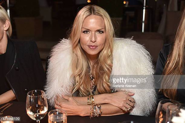 Rachel Zoe attends Crystal Lourd and Jacqui Getty Welcome NETAPORTER's Sarah Rutson To LA at Sunset Tower Hotel on April 29 2015 in West Hollywood...