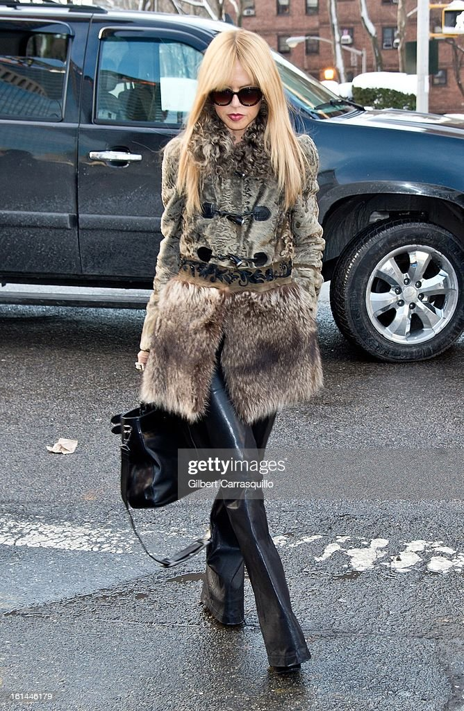 Rachel Zoe attends Fall 2013 Mercedes-Benz Fashion Show at The Theater at Lincoln Center on February 10, 2013 in New York City.