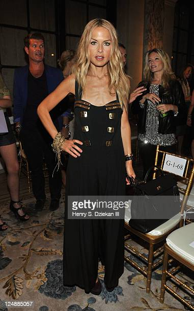 Rachel Zoe attends the Marchesa Spring 2012 fashion show during MercedesBenz Fashion Week at The Plaza Hotel on September 13 2011 in New York City