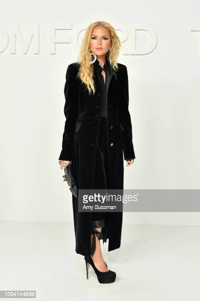 Rachel Zoe attends the Tom Ford AW20 Show at Milk Studios on February 07, 2020 in Hollywood, California.