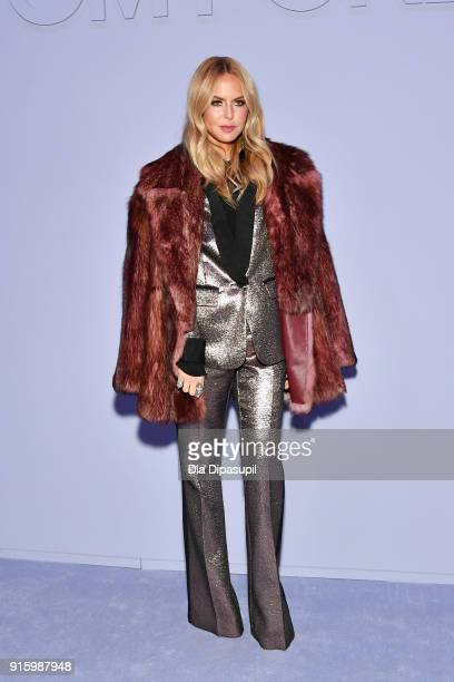 Rachel Zoe attends the Tom Ford Women's Fall/Winter 2018 fashion show during New York Fashion Week at Park Avenue Armory on February 8 2018 in New...