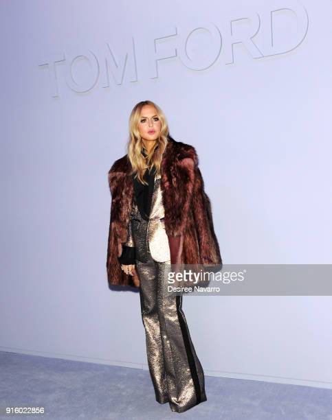 Rachel Zoe attends Tom Ford Women's Fall/Winter 2018 fashion show during New York Fashion Week at Park Avenue Armory on February 8 2018 in New York...