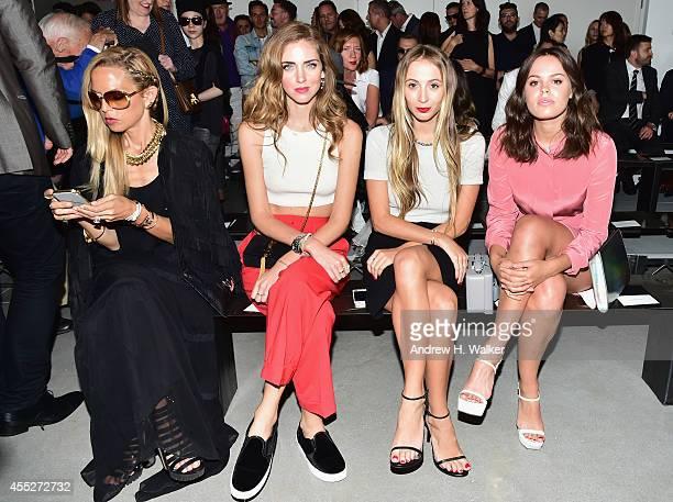 Rachel Zoe, Chiara Ferragni, Harley Viera-Newton and Atlanta de Cadenet attend the Calvin Klein Collection fashion show during Mercedes-Benz Fashion...