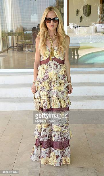 Rachel Zoe enjoying Moet Ice Imperial at The Zoe Report and DVF Brunch hosted by Rachel Zoe at Coachella on April 11 2015 in Palm Springs California