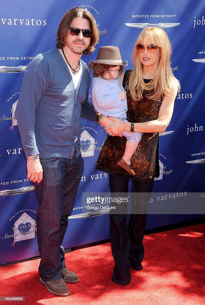 Rachel Zoe (R), husband Rodger Berman and son Skyler arrive at John Varvatos 10th Annual Stuart House Benefit at John Varvatos Los Angeles on March 10, 2013 in Los Angeles, California.