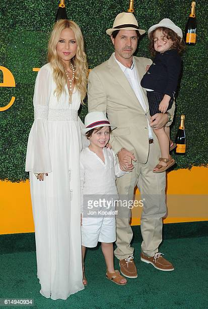 Rachel Zoe husband Rodger Berman children Skyler Berman and Kaius Berman arrive at the 7th Annual Veuve Clicquot Polo Classic at Will Rogers State...