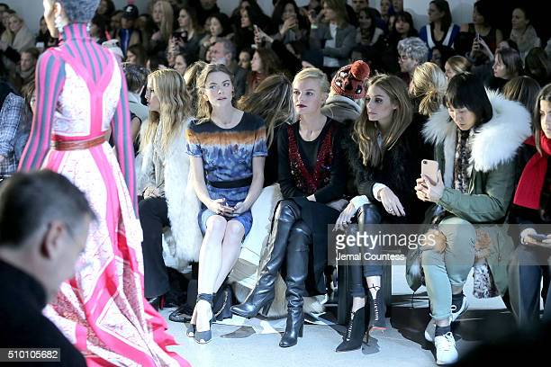 Rachel Zoe Jaime King Kate Bosworth and Olivia Palermo attend the Altuzarra Fall 2016 fashion show during New York Fashion Week at Spring Studios on...