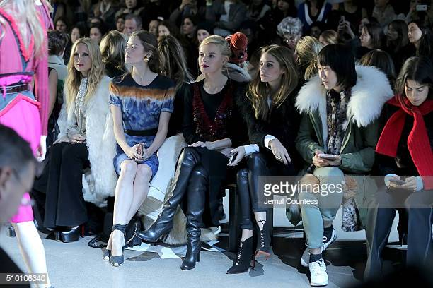 Rachel Zoe Jaime King Kate Bosworth Olivia Palermo and Leandra Medine attend the Altuzarra Fall 2016 fashion show during New York Fashion Week at...