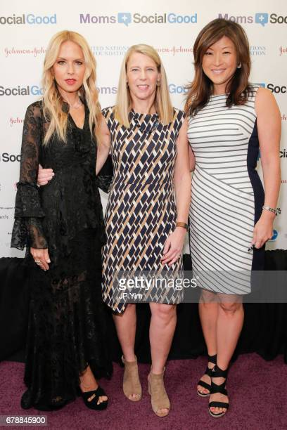 Rachel Zoe President Chief Executive Officer of Save The Children Carolyn Miles and ABC news journalist Juju Chang attend the 5th Annual Moms...