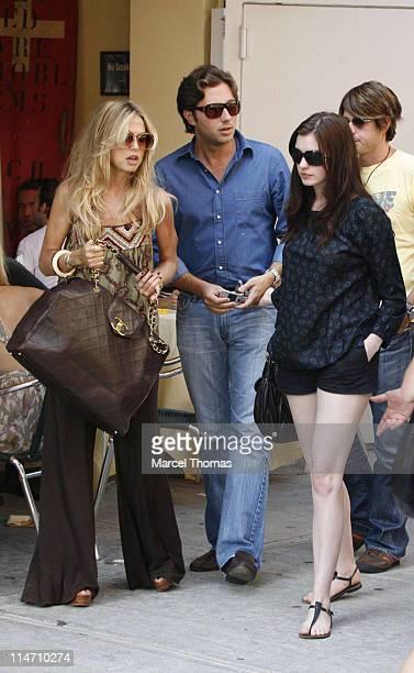 Rachel Zoe, Raffaello Folliero and Anne Hathaway during Anne Hathaway and Raffaello Folliero Sighting in SOHO - September 17, 2006 at SOHO in New...