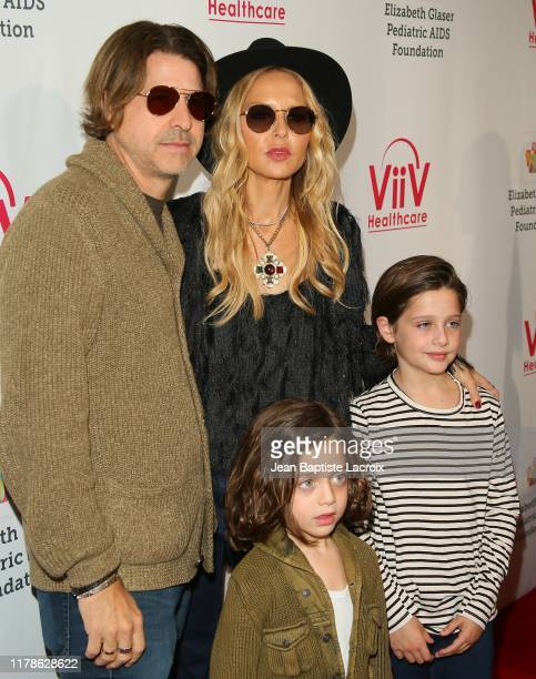Rachel Zoe Rodger Bergman and family attend the Elizabeth Glaser Pediatric AIDS Foundation's 30th Annual A Time for Heroes Family Festival at...