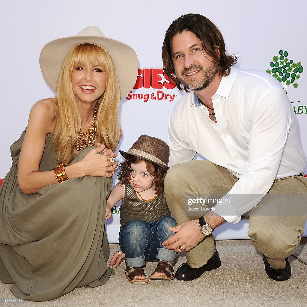 Rachel Zoe, Rodger Berman and son Skyler Berman attend the Baby2Baby Mother's Day garden party on April 27, 2013 in Los Angeles, California.