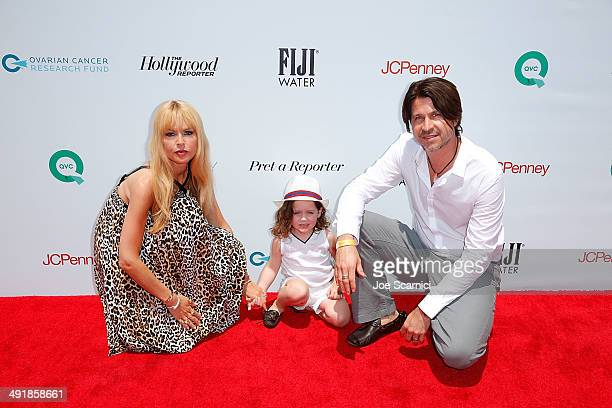 Rachel Zoe Skyler Berman and Rodger Berman attend FIJI Water at Super Saturday Los Angeles CoHosted By Rachel Zoe And Molly Sims at Barker Hangar on...