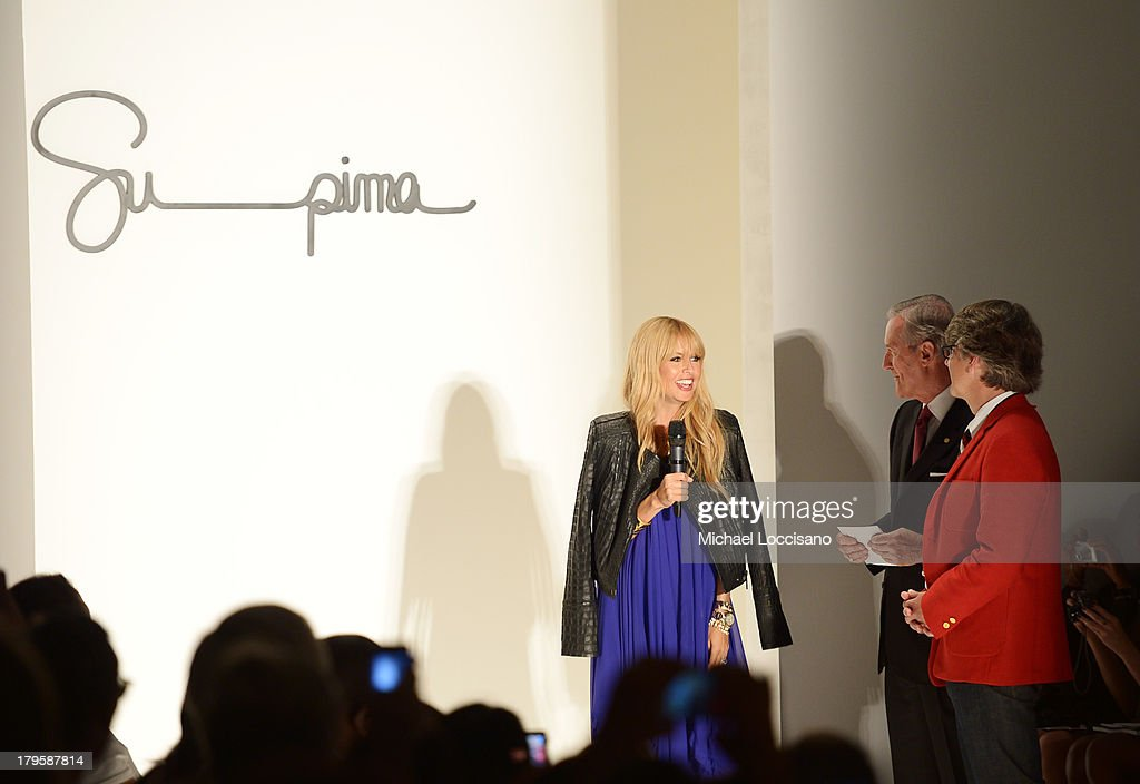 Rachel Zoe, Supima President Jesse Curlee and Vice President of Marketing Buxton Midyette attend the Supima Spring 2014 fashion show during Mercedes-Benz Fashion Week at The Studio at Lincoln Center on September 5, 2013 in New York City.