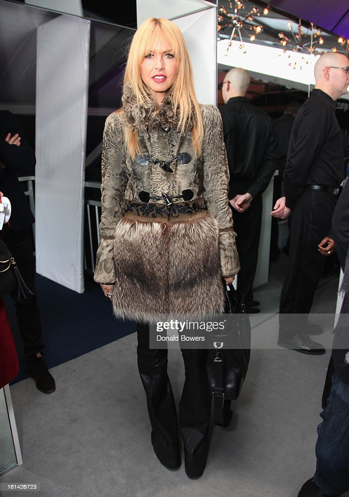 Rachel Zoe Visits The Samsung Galaxy Lounge At Mercedes-Benz Fashion Week Fall 2013 Collections