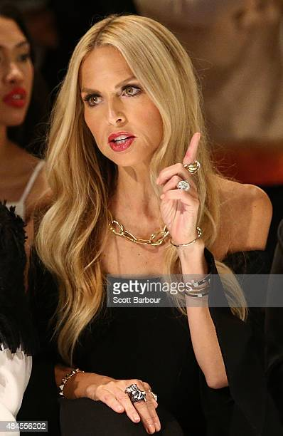 Rachel Zoe watches the show during the 'Icons of Style' campaign launch at Chadstone Shopping Centre on August 20 2015 in Melbourne Australia