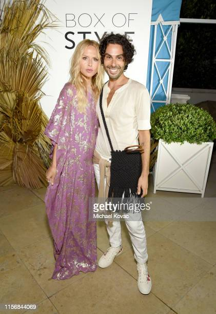 Rachel Zoe wearing Rachel Zoe Collection and Joey Maalouf attend the Summer 2019 Box Of Style By Rachel Zoe Launch At The Peninsula Beverly Hills at...