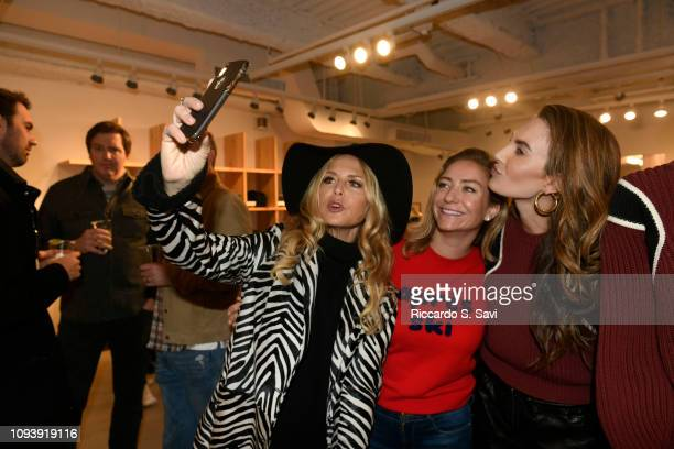 Rachel Zoe, Whitney Wolfe Herd and Elizabeth Chambers attend the Frame and Bumble winter vacation Aspen store event on February 4, 2019 in Aspen,...