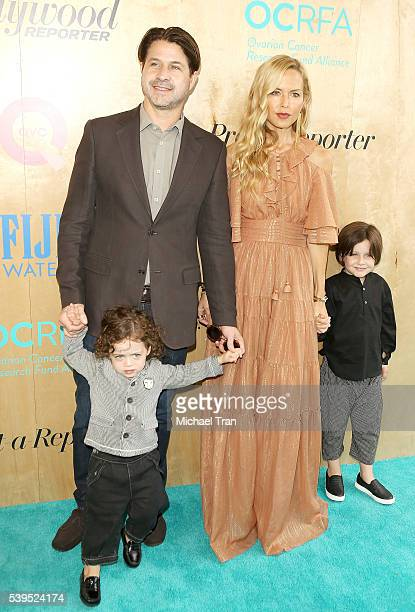 Rachel Zoe with Rodger Berman and their children Skyler Morrison Berman and Kaius Jagger Berman arrive at the Ovarian Cancer Research Fund Alliance's...