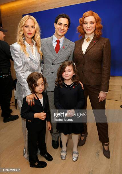 Rachel Zoe Zac Posen and Christina Hendricks attend the Brooks Brothers and St Jude Children's Research Hospital Annual Holiday Celebration at The...