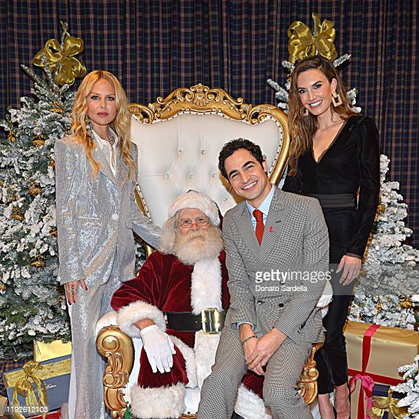 Rachel Zoe Zac Posen and Elizabeth Chambers attend the Brooks Brothers and St Jude Children's Research Hospital Annual Holiday Celebration at The...