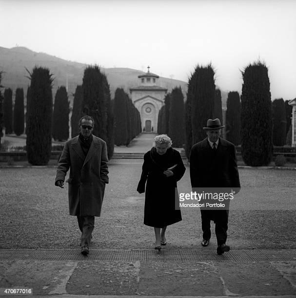 Rachele Guidi Mussolini also known as Donna Rachele went to the Cemetery of Predappio where her husband Benito Mussolini is buried Predappio 8th...