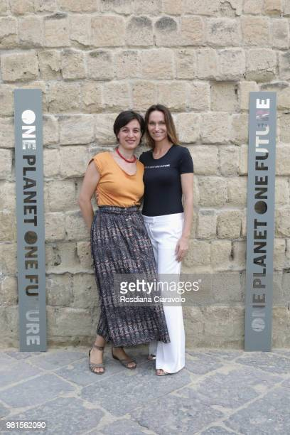 Rachele Pennetta and Anne de Carbuccia attend One Planet One Future Cocktail Party on June 22 2018 in Naples Italy