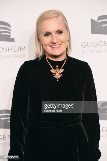 Rachele Regini and Maria Grazia Chiuri attend the Guggenheim International Gala Dinner made possible by Dior at Solomon R Guggenheim Museum on...