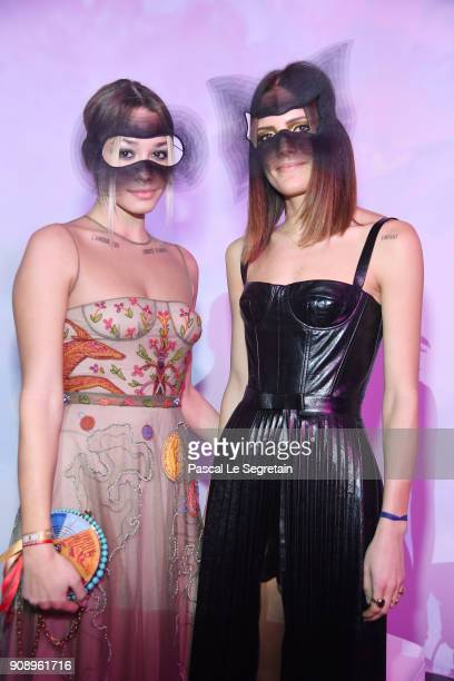 Rachele Regini attends Le Bal Surrealiste Dior during Haute Couture Spring Summer 2018 show as part of Paris Fashion Week on January 22 2018 in Paris...