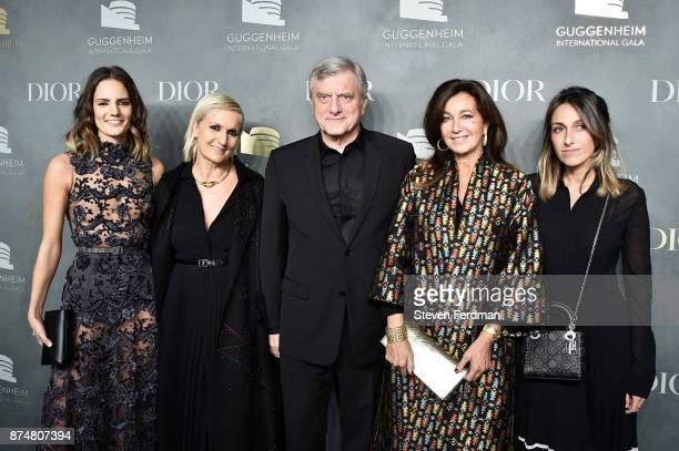Rachele Regini designer Maria Grazia Chiuri Dior Couture CEO Sidney Toledano Katia Toledano and Julia Toledano attend the 2017 Guggenheim...