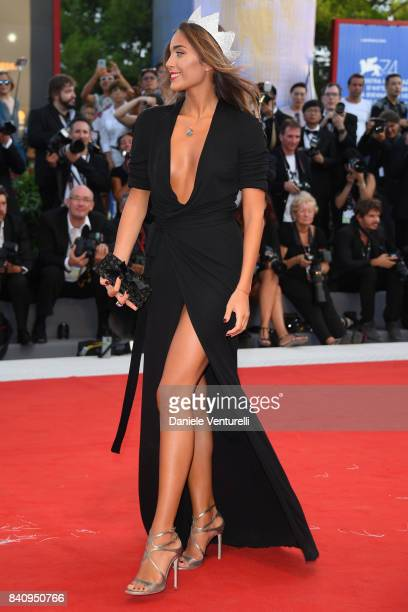 Rachele Risalit walks the red carpet ahead of the 'Downsizing' screening and Opening Ceremony during the 74th Venice Film Festival at Sala Grande on...