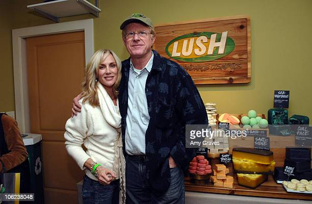 Rachelle Carson and Ed Begley Jr at Lush Farmer's Market Product Display