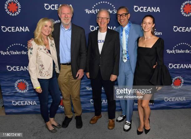 "Rachelle Carson, Ed Begley Jr., CEO of Oceana Andrew Sharpless, Jeff Goldblum and Emilie Livingston attend Oceana's Fourth Annual ""Rock Under The..."