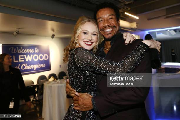 """Rachelle Henry and Rico E. Anderson attend the Cameron Nino """"Out"""" EP Launch on March 07, 2020 in Playa Vista, California."""