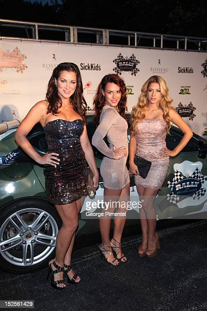 Rachelle Leah Rachelle Wilde and Priscilla Caripan attends the Rally For Kids With Cancer Party on September 21 2012 in Toronto Canada