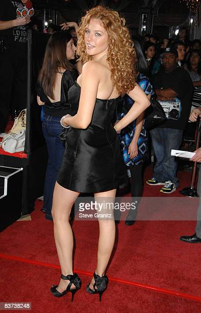 Rachelle Lefevre arrives at the Los Angeles premiere of 'Twilight' at the Mann Village and Bruin Theaters on November 17 2008 in Westwood California