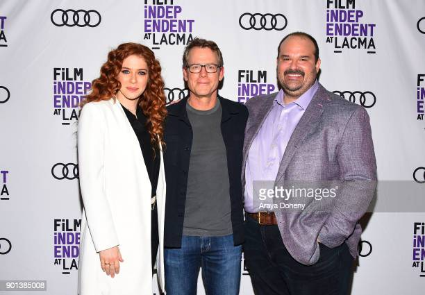 Rachelle Lefevre Greg Kinnear and Mel Rodriguez attend the Film Independent at LACMA presents 'Phillip K Dick's Electric Dreams' at Bing Theater At...
