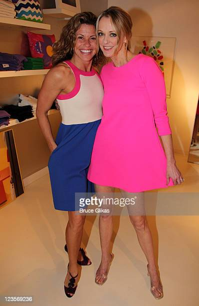 Rachelle Rak and Angie Schworer attend the celebration of the launch of a new limited edition collection inspired by the musical 'Catch Me If You...