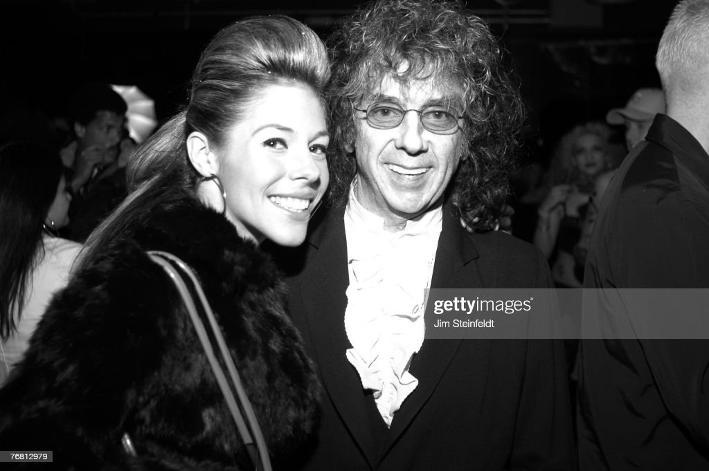 Rachelle Short and husband record producer Phil Spector attend the Los Angeles Music Awards at the Qtopia Event Center on November 22, 2003 in Hollywood, California.