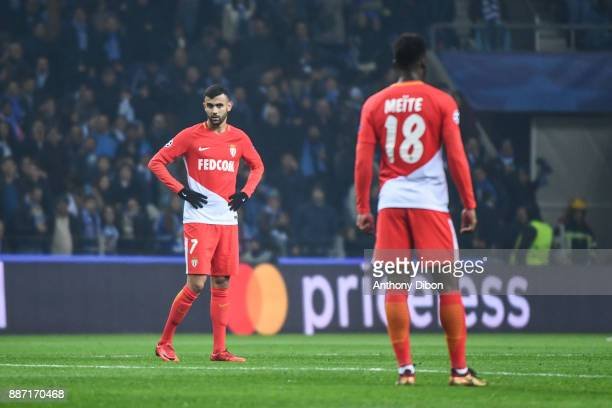 Rachi Ghezzal of Monaco looks dejected during the Uefa Champions League match between Fc Porto and As Monaco at Estadio do Dragao on December 6 2017...